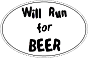 Will Run For Beer Oval