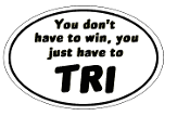 Just TRI Small White Sticker