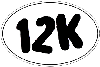 12K Oval Sticker