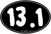 13.1 Small Black Oval Sticker