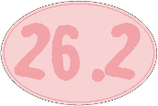 26.2 Pink Oval