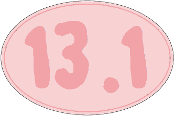 13.1 Small Pink Oval Sticker