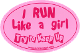 Run Like A Girl Pink Sticker