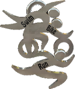 Swim-Bike-Run (TRI Symbols) Charm