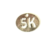 5K Oval Charm on Necklace