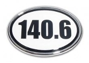 140.6 Small White Oval Magnet